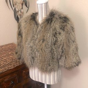 NEW Fabulous Furs Shaggy Faux Fur Jacket